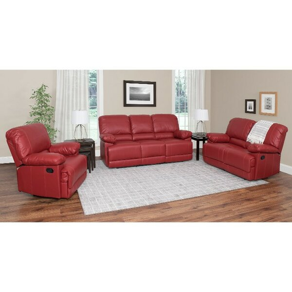 Condron Reclining 3 Piece Living Room Set by Red Barrel Studio