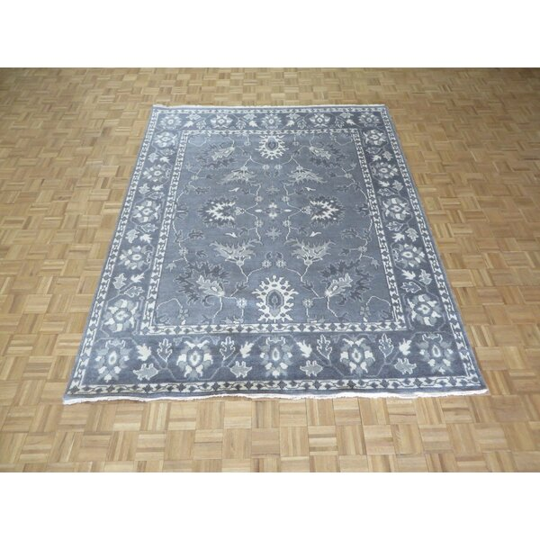 One-of-a-Kind Josephson Oushak Ushak Hand-Knotted Wool Silver/Gray Area Rug by Canora Grey