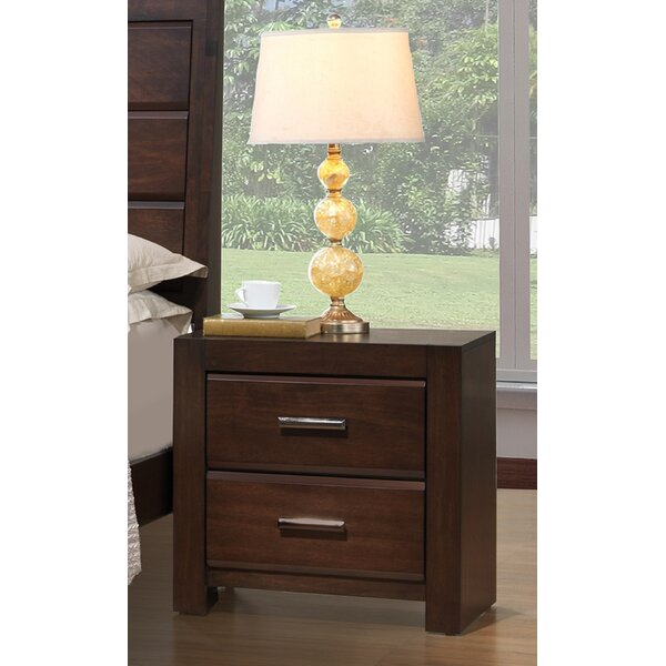 Tibbitts 2 Drawer Nightstand by Wrought Studio