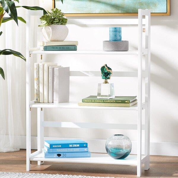 Reanna 3 Shelf Folding Standard Bookcase by Ebern Designs