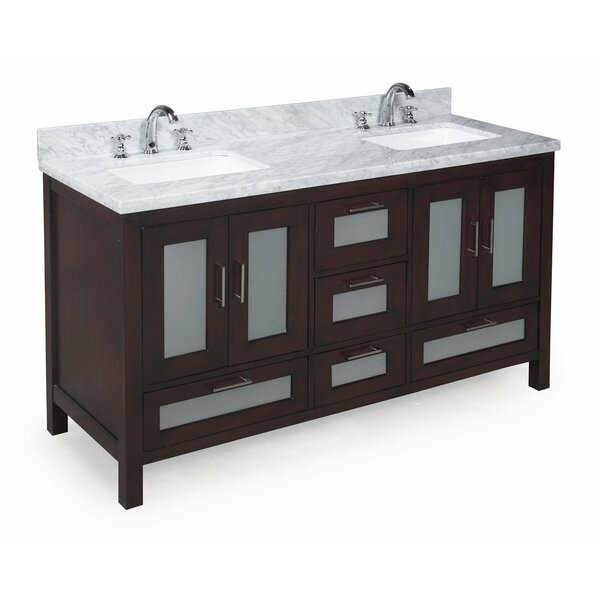 Manhattan 60 Double Bathroom Vanity Set by Kitchen Bath Collection