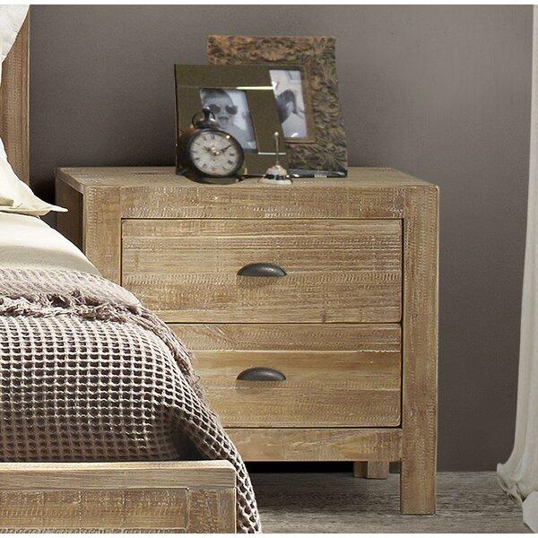 Montauk 2 Drawer Nightstand by Grain Wood Furnitur