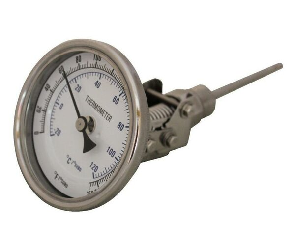 Swivel Brew Kettle Mash Tun Dial Thermometer by Concord Cookware