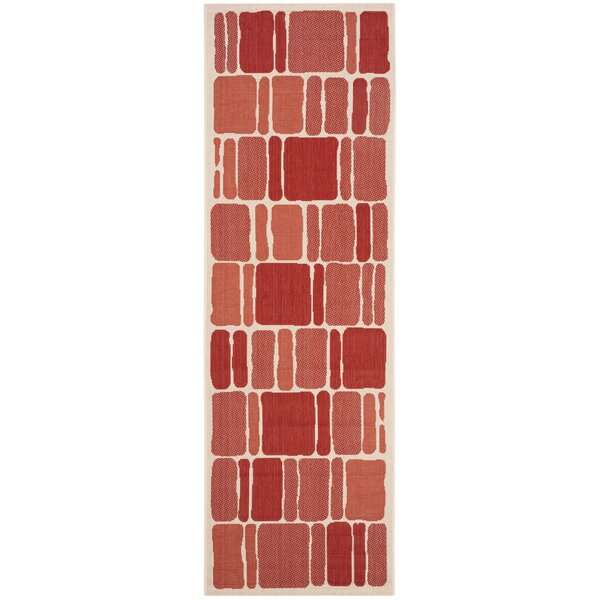Martha Stewart Blocks Red Area Rug by Martha Stewart Rugs