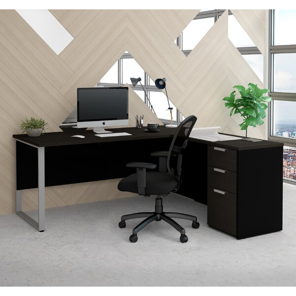Hartleton Modern L-Shape Corner Desk by Latitude Run