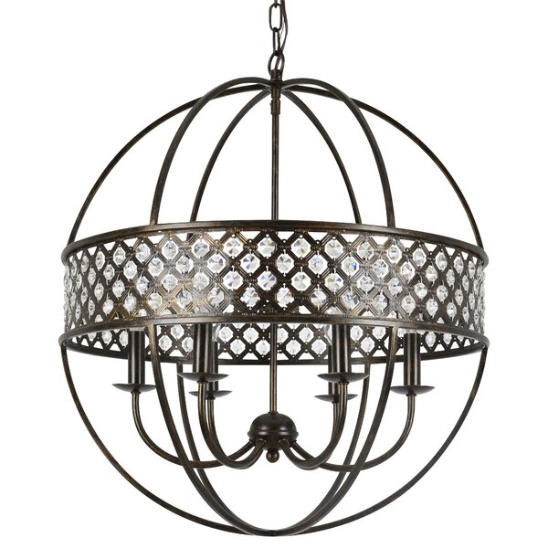 Santillan 6-Light Candle Style Globe Chandelier by House of Hampton House of Hampton