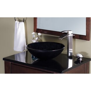 Galassia Glass Circular Vessel Bathroom Sink Novatto