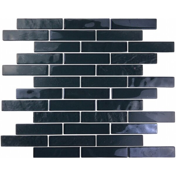 Landscape 1 x 4 Glass Mosaic Tile in Dark Gray by Abolos