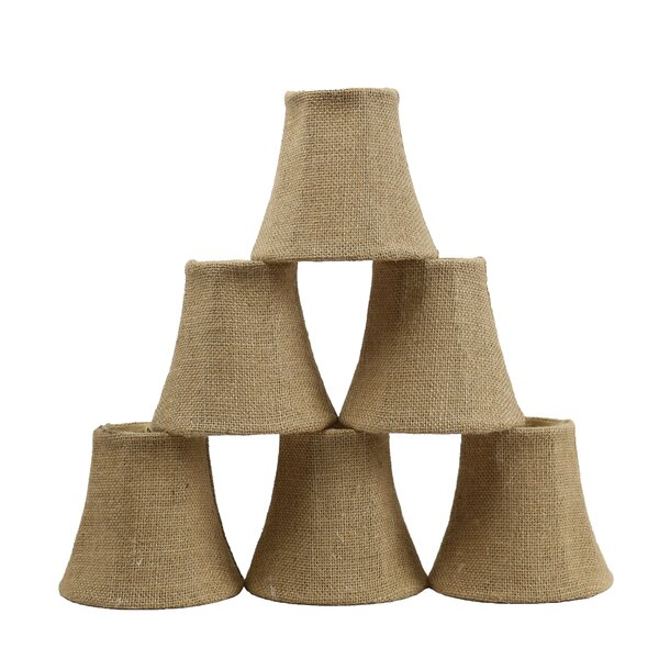 5 Burlap Bell Candelabra Shade (Set of 6) by Bay Isle Home