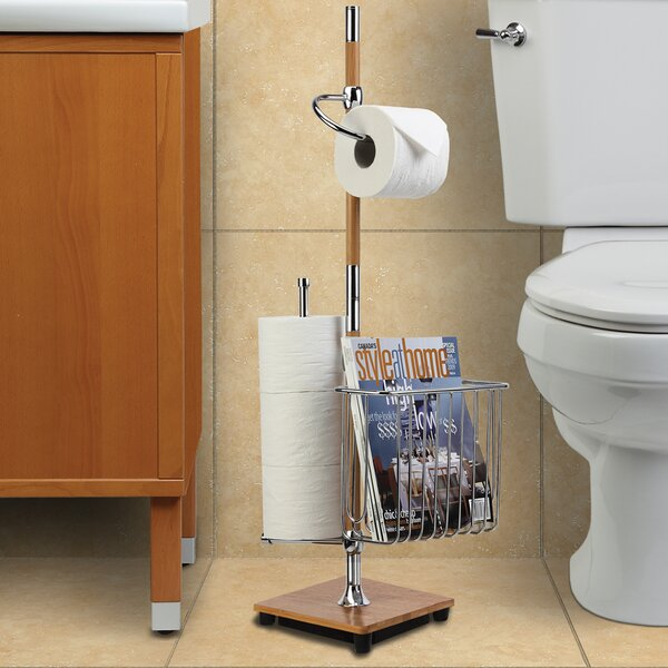 Freestanding Toilet Paper Holder with Magazine Rack by Better Living Products