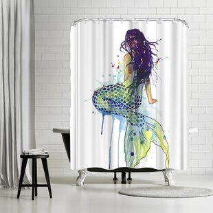 Affordable Sam Nagel Mermaid Shower Curtain By East Urban Home