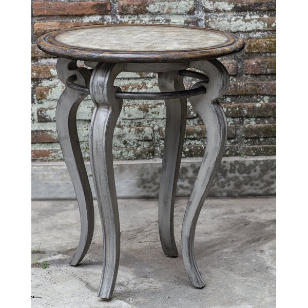 Io Round End Table by August Grove
