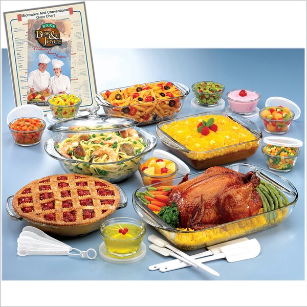 Expressions Deluxe 25 Piece Bakeware Set by Anchor Hocking