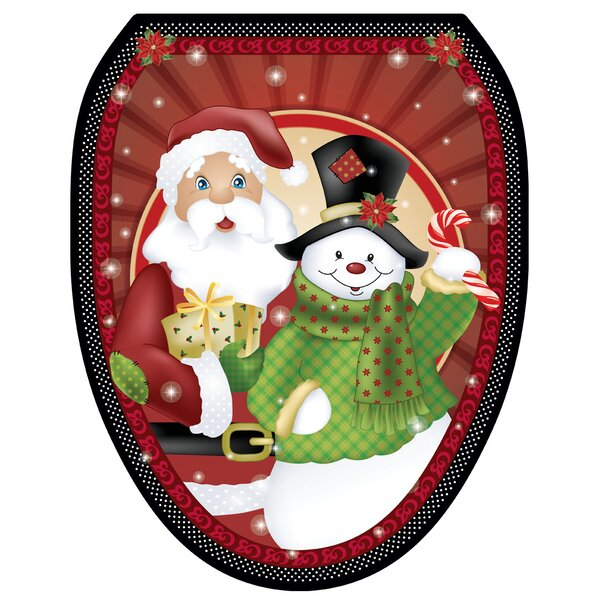Polka Dot Christmas Toilet Seat Decal by Toilet Tattoos