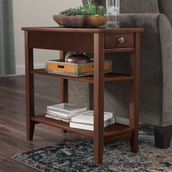 Greenspan End Table With Storage  by Three Posts