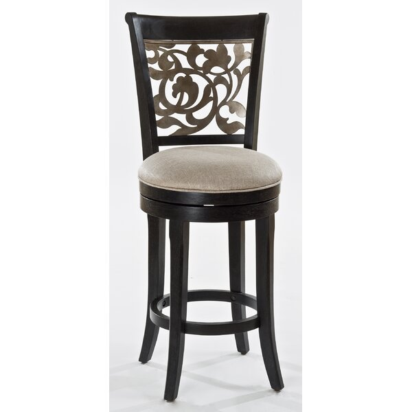 Chuckanut 26 Swivel Bar Stool by Fleur De Lis Living