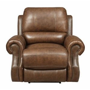 Crete Leather Power Recliner by Red Barrel Studio