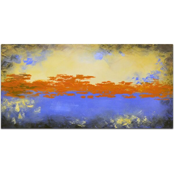 The Orange Sky Painting on Canvas by Omax Decor