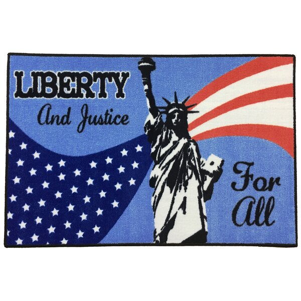 Shiey Liberty Fourth of July Red/Blue/White Area Rug by The Holiday Aisle