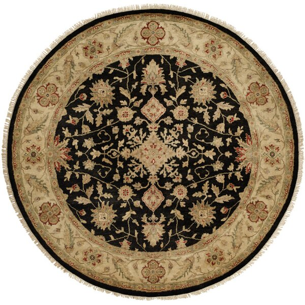 Wuhan Hand-Knotted Black/Ivory Area Rug by Wildon Home ®