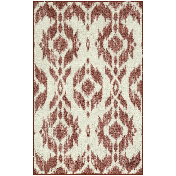 Pinehur Coral/Cream Area Rug by Bungalow Rose