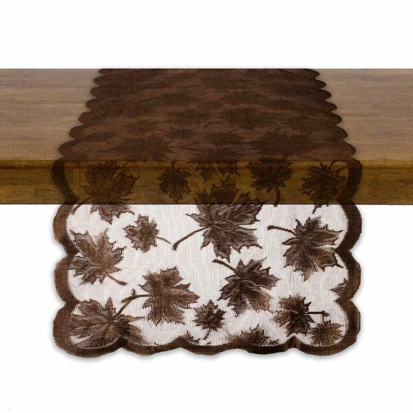 Lace Maple Leaf Table Runner by Design Imports