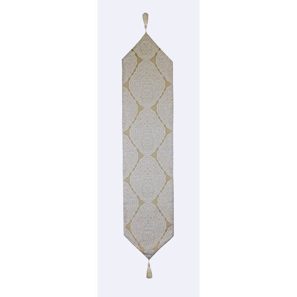 Carles Lacy Floral Luxurious Table Runner by Astoria Grand