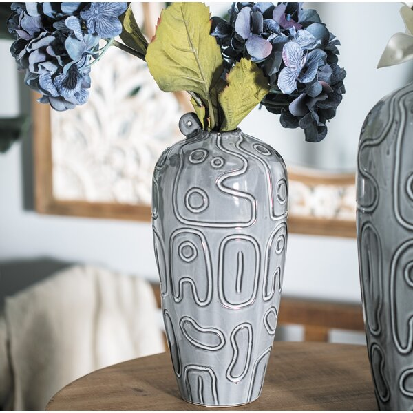 Hellman Modern Ceramic Table Vase by World Menagerie