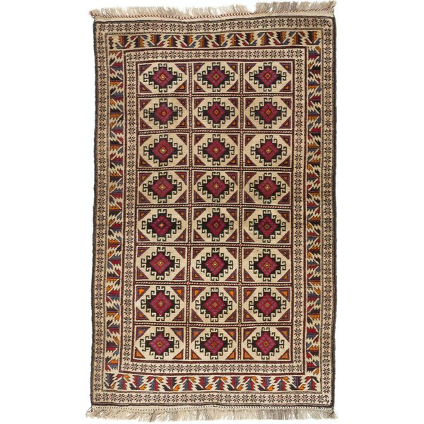 One-of-a-Kind Doan Hand-Knotted Brown/Ivory Area Rug by Isabelline
