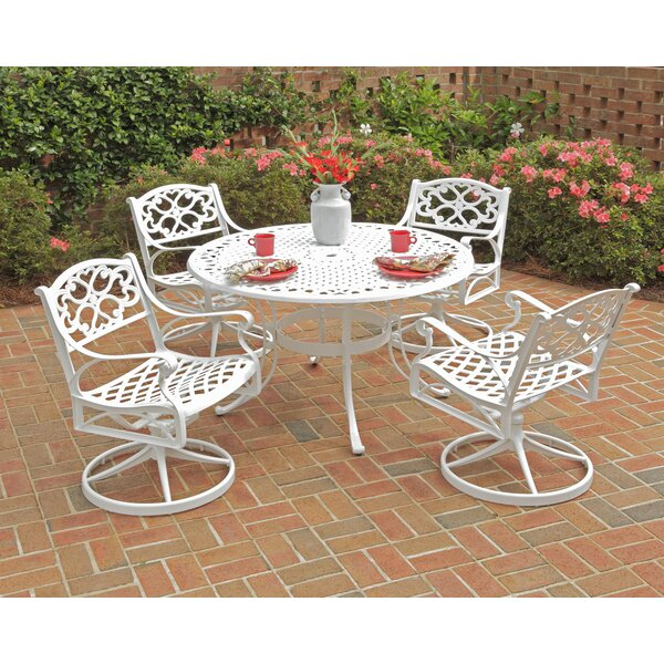 Ayleen 5 Piece Dining Set with Swivel Chairs by August Grove