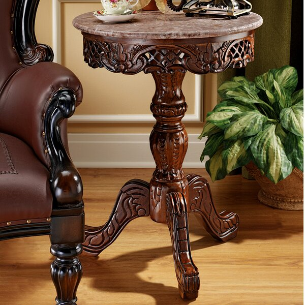 Chantret Marble Topped End Table by Design Toscano