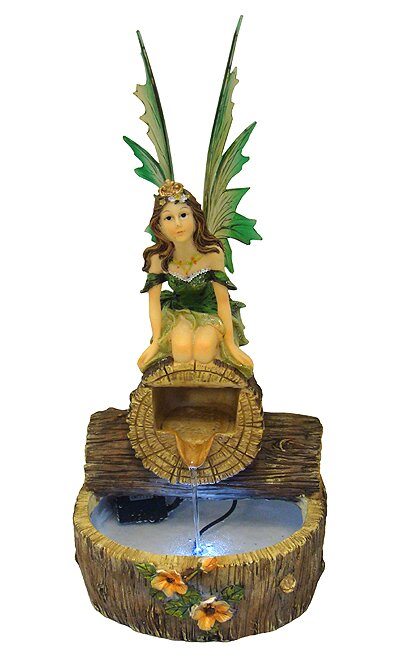 Northlight Fairy Indoor Water Fountain Garden Figure with LED ...
