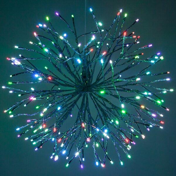 LED Twinkle Light Indoor/Outdoor Starburst Branches Strobe Lighting with Hook by The Holiday Aisle