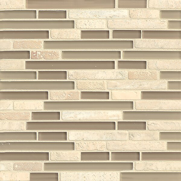 Carlisle 12 x 12 Stone Mosaic Linear Blend Tile in Whitby by Grayson Martin