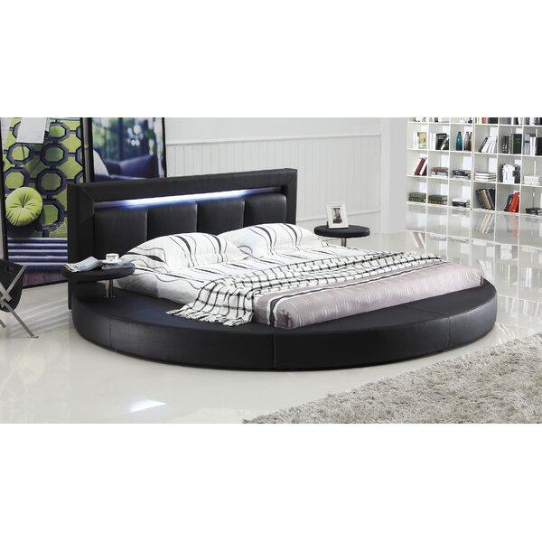 Ohan Upholstered Sleigh Platform Bed by Orren Ellis Orren Ellis