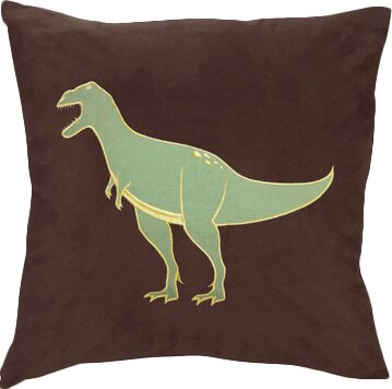 Dinosaur Land Microsuede Throw Pillow by Sweet Jojo Designs