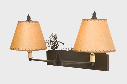 Pinecone Swing Arm Lamp