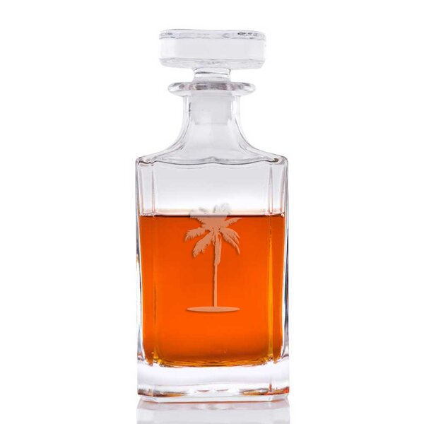 Bethesda Palm Tree Classic Square 26 oz. Decanter by Bay Isle Home