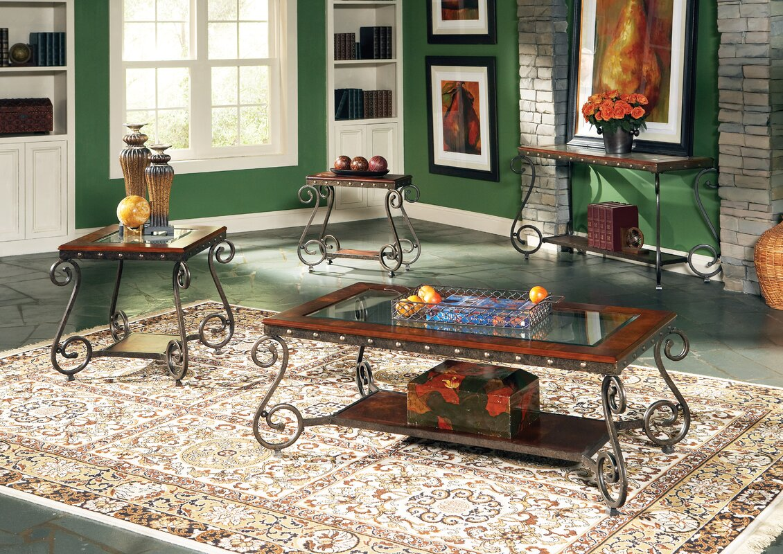 Astoria Grand Carlton 4 Piece Coffee Table Set Reviews