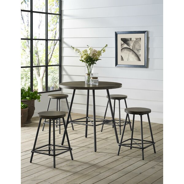 Noelle 5 Piece Pub Table Set by 17 Stories