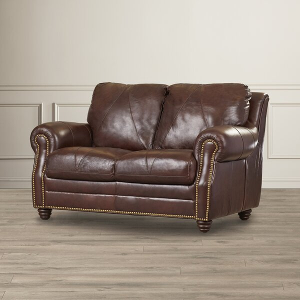 Gardner Leather Loveseat By Darby Home Co Great price