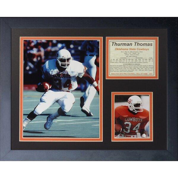 Thurman Thomas - OSU Framed Memorabilia by Legends Never Die