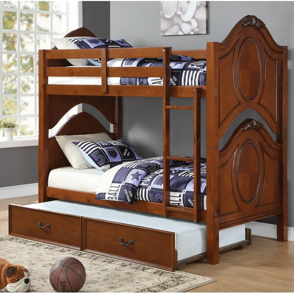 Dowson Twin over Twin Bunk Bed with Trundle by Harriet Bee