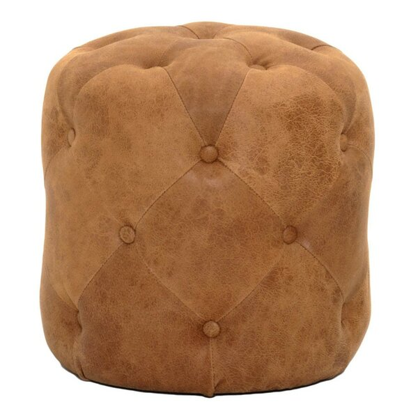 Kiro Leather Tufted Ottoman by Bungalow Rose