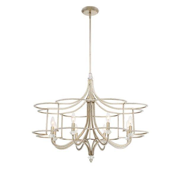 Palmisano 8 - Light Lantern Geometric Chandelier By Eurofase