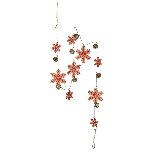 Felt Snowflake and Bell Garland by The Holiday Aisle