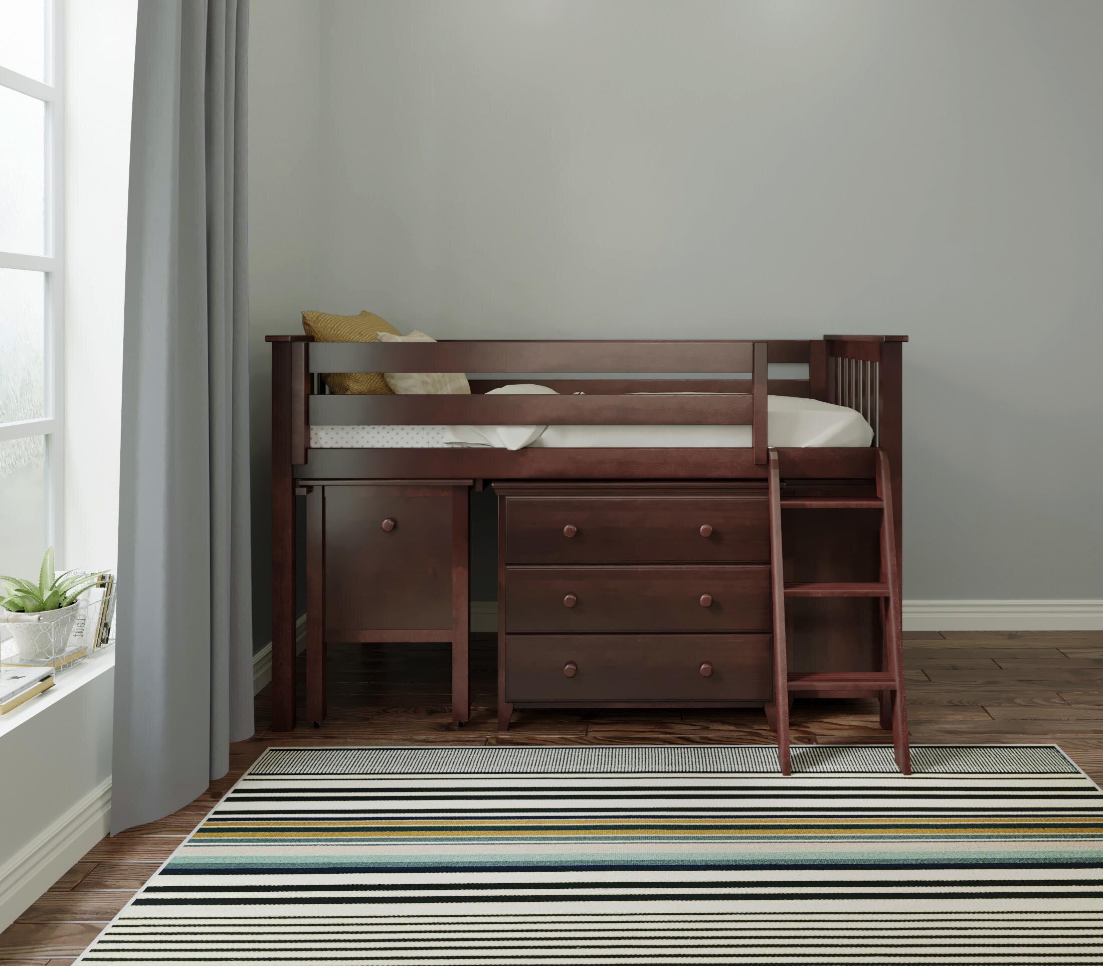 Coastal Farmhouse Baby & Kids Allen Twin Loft Bedroom Set | Wayfair
