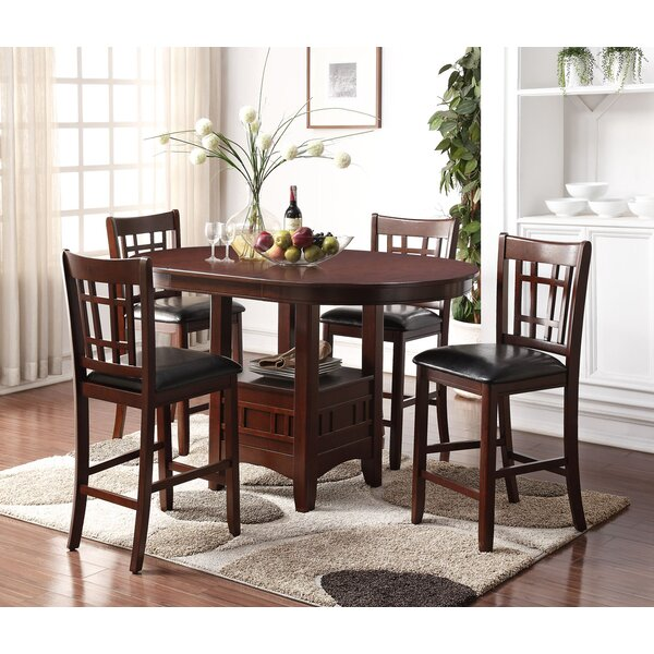 Nunez 5 Piece Drop Leaf Dining Set by Alcott Hill