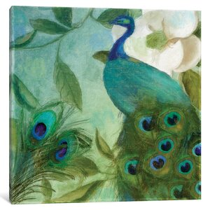 Peacock II Graphic Art on Wrapped Canvas by East Urban Home