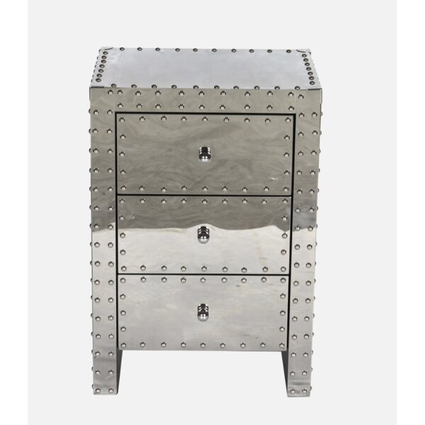 Victor 3 Drawer Nightstand by 17 Stories